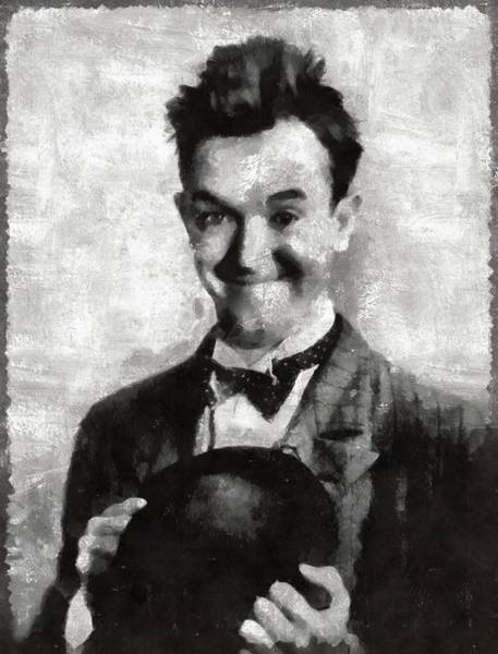 Laurel Wall Art - Painting - Stan Laurel Vintage Hollywood Actor Comedian by Mary Bassett