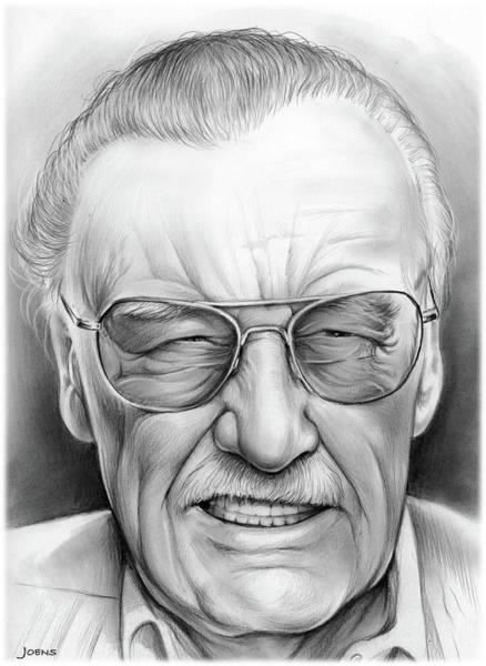 Wall Art - Drawing - Stan Lee by Greg Joens