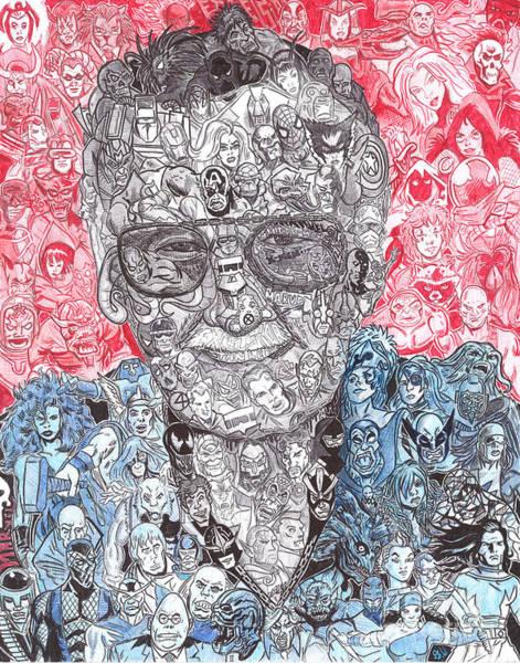 Iron Drawing - Stan Lee by Serafin Ureno