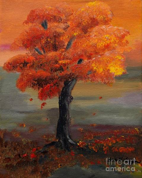 Painting - Stand Alone In Color - Autumn - Tree by Jan Dappen