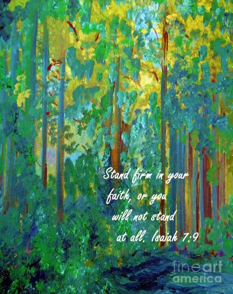Spiritual Warfare Painting - Stand Firm In Your Faith by Eloise Schneider Mote