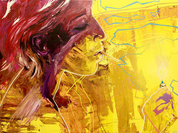 David Choe Painting - Stand Next To My Fire by Bobby Zeik