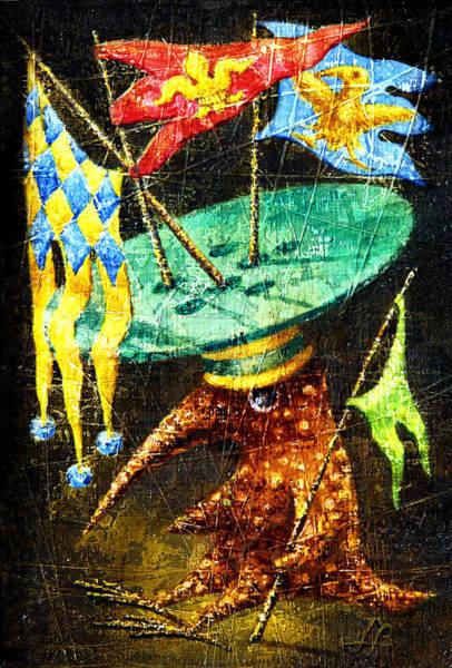 Birdman Painting - Standard-bearer by Lolita Bronzini