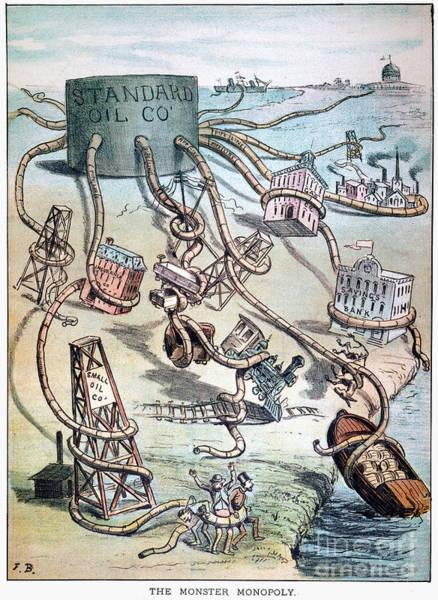 Photograph - Standard Oil Cartoon by Granger