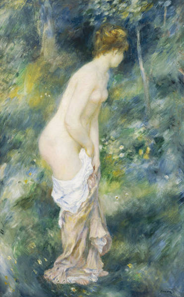 Dressing Painting - Standing Bather by Pierre Auguste Renoir