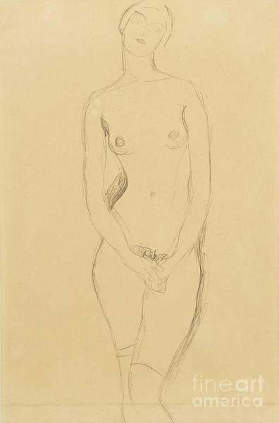 Drawing - Standing Female Nude by Gustav Klimt