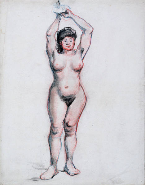 Perfect Body Painting - Standing Female Nude Seen From The Front, 1886 by Vincent Van Gogh