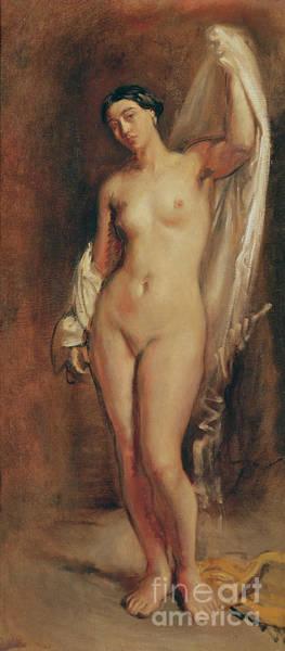 Tepidarium Painting - Standing Female Nude by Theodore Chasseriau