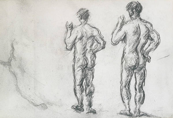 Drawing - Standing Male Bather  by Paul Cezanne