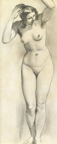Sensual Drawing - Standing Nude by William Edward Frost