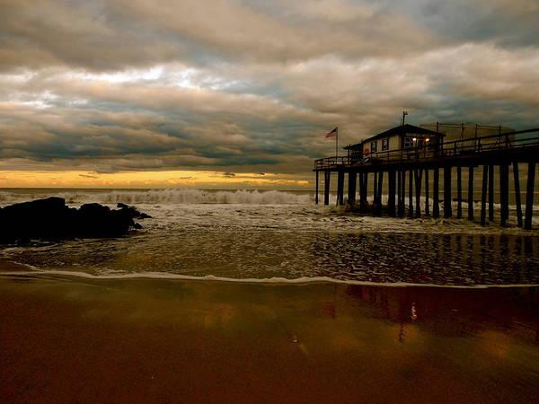 Ocean Grove Photograph - Standing On Stilts. by Joe  Burns