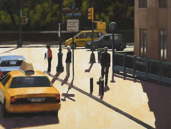 Wall Art - Painting - Standing On The Corner by Tate Hamilton