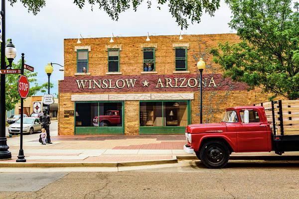 Wall Art - Photograph - Standing On The Corner - Winslow Arizona by Jon Berghoff