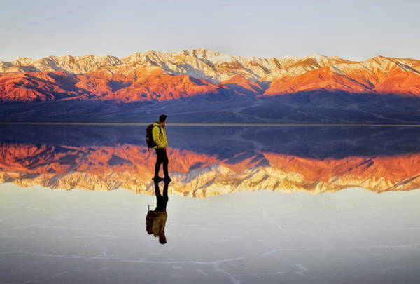 Death Valley Photograph - Standing On Water by Nicki Frates