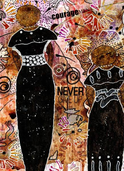 Wall Art - Mixed Media - Standing Steadfast In Love And Kindness by Angela L Walker