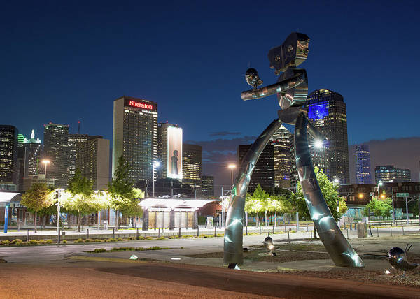 Photograph - Walking Tall Sculpture Deep Ellum Texas 063018 by Rospotte Photography