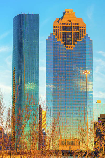 Photograph - Standing Tall - Downtown Houston Skyscrapers by Gregory Ballos