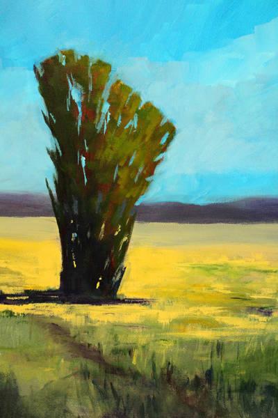 Lone Tree Painting - Standing Tall by Nancy Merkle