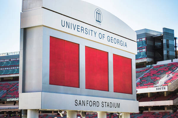 Photograph - Standing Tall Over Sanford Stadium  by Parker Cunningham