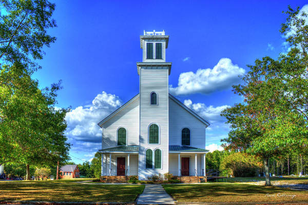 Photograph - Standing Tall White Plains Baptist Church Greene County Georgia Art by Reid Callaway