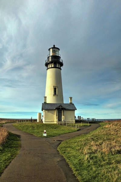 Oregon Coast Mixed Media - Standing Tall - Yaquina Head Lighthouse by Brenton Cooper