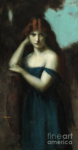 Nocturnal Wall Art - Painting - Standing Woman by Jean-Jacques Henner