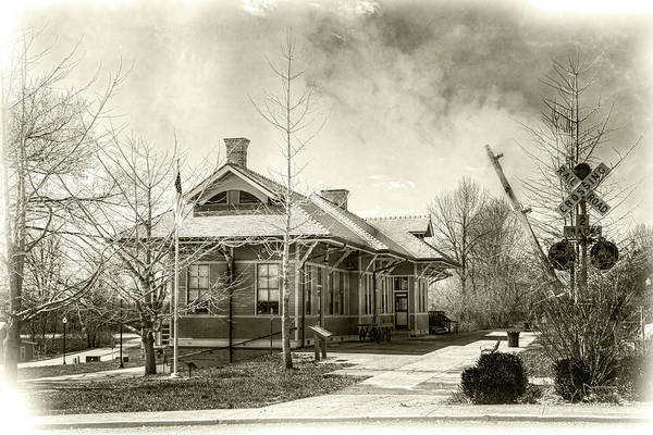 Photograph - Stanford L And N Depot by Sharon Popek