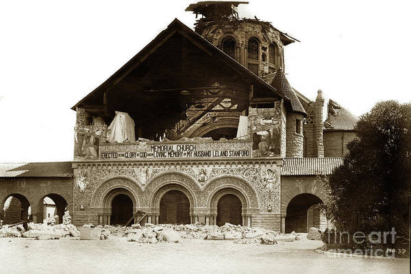 Photograph - Stanford Memorial Church  by California Views Archives Mr Pat Hathaway Archives
