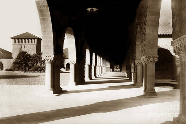 Photograph - Stanford University Corridor December 1903 by California Views Archives Mr Pat Hathaway Archives