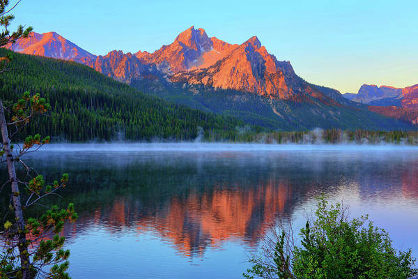 Photograph - Stanley Lake Dawn by Greg Norrell