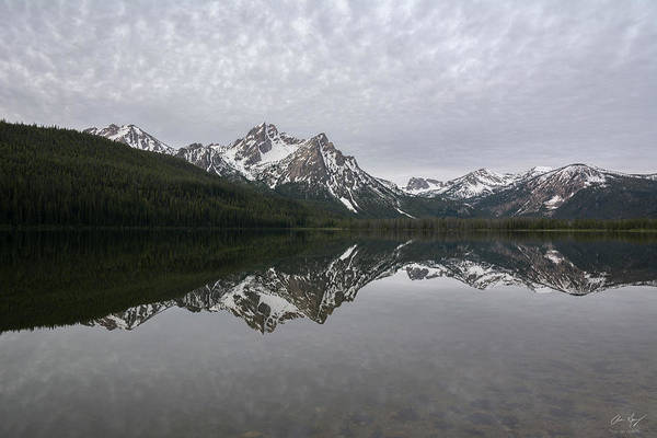 Photograph - Stanley Lake Reflection by Aaron Spong