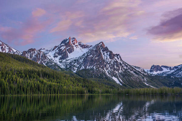 Photograph - Stanley Lake Sunset by Aaron Spong