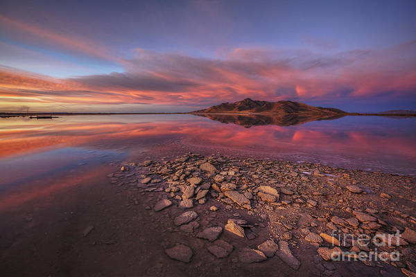 Photograph - Sunset At A Favorite Spot On The Great Salt Lake by Spencer Baugh