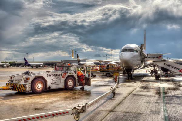 Wall Art - Photograph - Stanstead Airport  England by David Pyatt