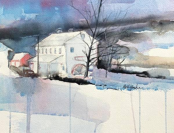 Garrett County Wall Art - Painting - Stanton's Mill In December by Robert Yonke