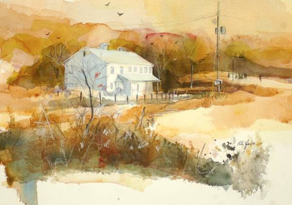 Garrett County Wall Art - Painting - Stanton's Mill In Fall by Robert Yonke