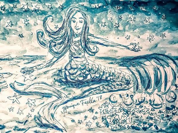 Star Bearer Mermaid Art Print