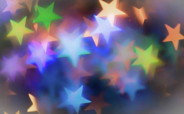 Gold Dust Photograph - Star Bokeh by Martin Newman