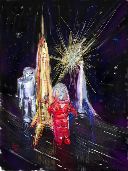 Robbie Digital Art - Star City by Russell Pierce