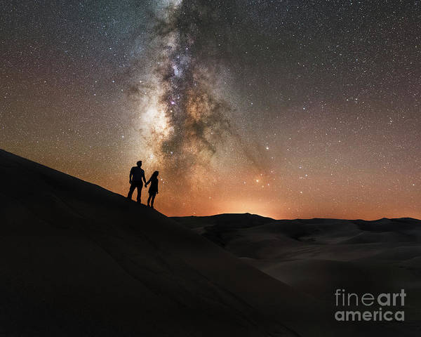Romeo And Juliet Wall Art - Photograph - Star Crossed Lovers At Night by Michael Ver Sprill