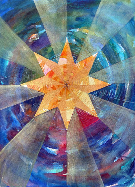Painting - Star Mandala 1  by Christie Martin