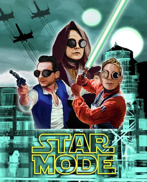 Wall Art - Digital Art - Star Mode - Star Wars And Depeche Mode by Luc Lambert