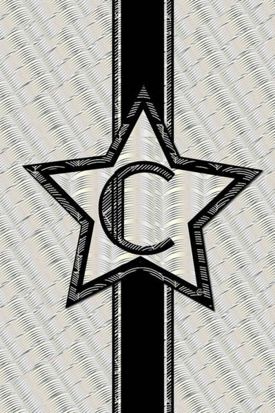 Painting - Star Of The Show Art Deco Monogram C by Cecely Bloom