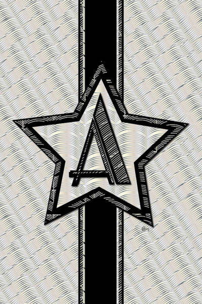 Painting - Star Of The Show Art Deco Monogram by Cecely Bloom