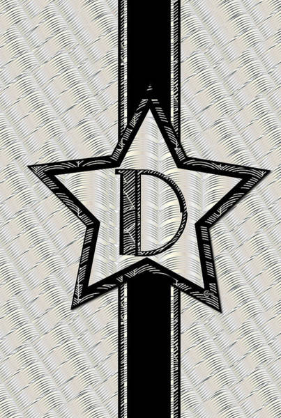 Painting - Star Of The Show Art Deco Monogram D by Cecely Bloom