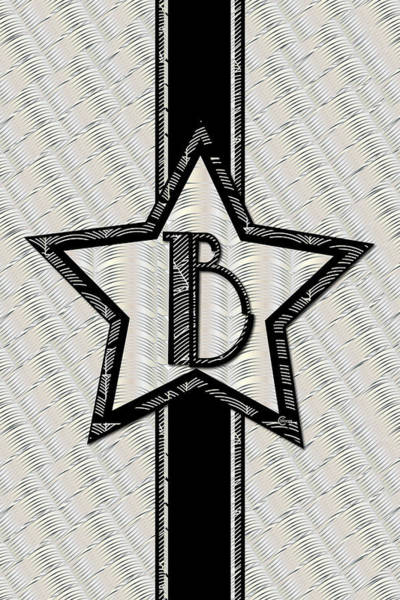 Painting - Star Of The Show Art Deco Style Letter B by Cecely Bloom