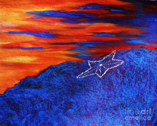 Star On The Mountain Art Print
