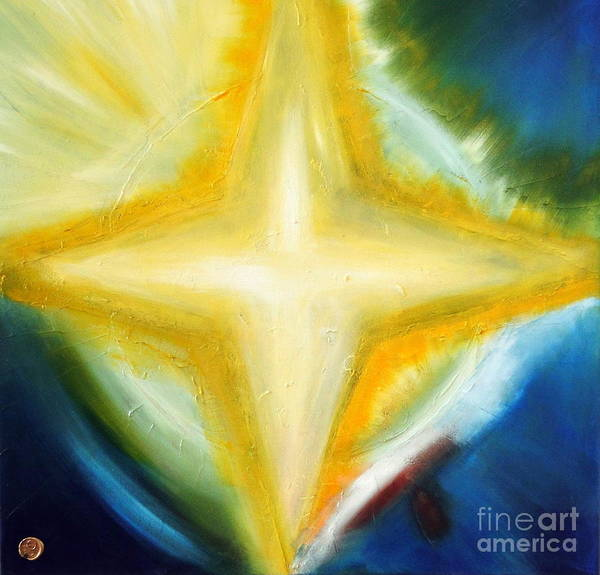 Wall Art - Painting - Star by Ron Labryzz