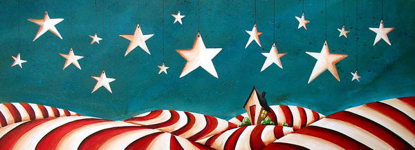 Wall Art - Painting - Star Spangled by Cindy Thornton