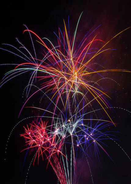 Dazzle Wall Art - Photograph - Star Spangled Fireworks by Garry Gay